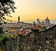 Summer sunset in Florence by Denise Baker