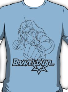 BraveStarr - Thirty Thirty - Black Line Art T-Shirt