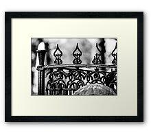 Wrought Iron Cemetery gate Framed Print