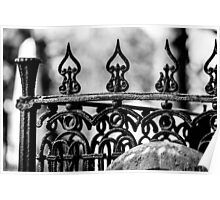 Wrought Iron Cemetery gate Poster