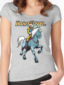 BraveStarr - Thirty Thirty and BraveStarr #4  - Color Women's Fitted Scoop T-Shirt