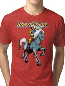 BraveStarr - Thirty Thirty and BraveStarr #4  - Color Tri-blend T-Shirt
