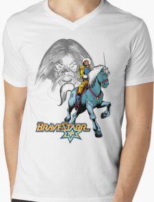 BraveStarr - Tex Hex, Thirty Thirty, and BraveStarr  - Color Mens V-Neck T-Shirt