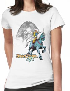 BraveStarr - Tex Hex, Thirty Thirty, and BraveStarr  - Color Womens Fitted T-Shirt