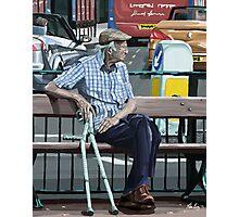 Resting His Feet Photographic Print