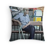 Resting His Feet Throw Pillow