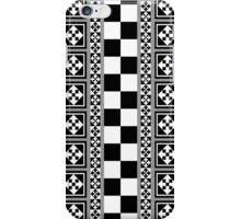 Portugese Patterns Black, Grey, White case iPhone Case/Skin