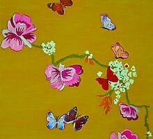 Butterflies greeting card by Ali Close