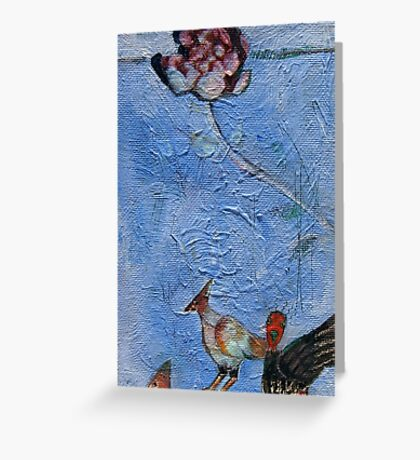 Ribbon wood and ground birds Greeting Card