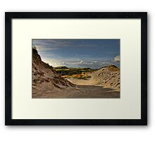 Low sun over the dunes Framed Print