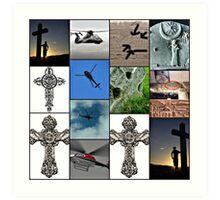 cross in the sky Art Print