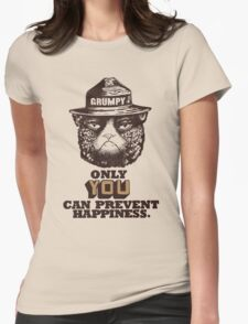 Grumpy PSA Womens Fitted T-Shirt