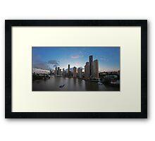 Panorama | Brisbane CBD Framed Print