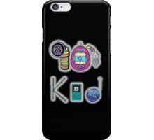 90's Kid in Midnight Black iPhone Case/Skin