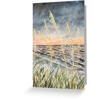 Beach at night art print Greeting Card
