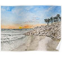 Bradenton beach Florida seascape print Poster