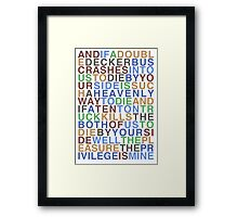 There  Is A Light That Never Goes Out - The Smiths Framed Print