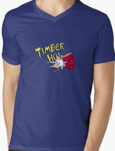 Timber Ho! Mens V-Neck T-Shirt