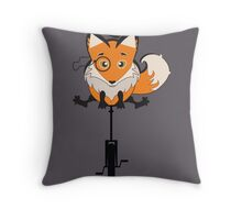 Foxy Cycle Throw Pillow