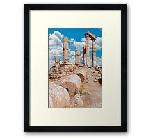 The Citadel, Amman Framed Print