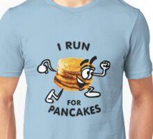 I Run For Pancakes! (Design #1 - BLACK) Unisex T-Shirt