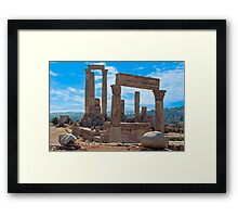 The Citadel2, Amman Framed Print