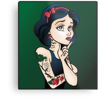 Disney Princesses with attitude - Snow White Metal Print