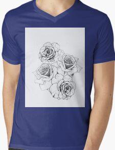 Flower Tranquility Mens V-Neck T-Shirt