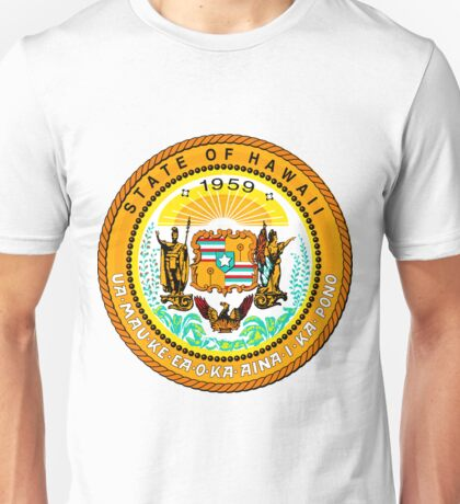Sunset Hawaii | State Seal | SteezeFactory.com Unisex T-Shirt