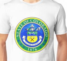 Green Colorado | State Seal | SteezeFactory.com Unisex T-Shirt