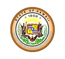 Hawaii | State Seal | SteezeFactory.com Photographic Print