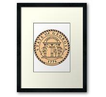 Georgia Peach   State Seal   SteezeFactory.com Framed Print