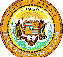 Sunset Hawaii | State Seal | SteezeFactory.com by FreshThreadShop