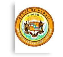 Sunset Hawaii | State Seal | SteezeFactory.com Canvas Print