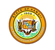 Sunset Hawaii | State Seal | SteezeFactory.com Photographic Print