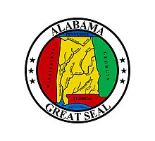 Alabama | State Seal | SteezeFactory.com Photographic Print