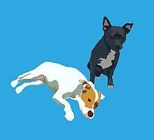 Bright Blue Puppies by pupsofnyc