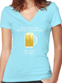 Potion of Irish Courage Women's Fitted V-Neck T-Shirt