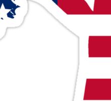 Sexy American Silhouette Sticker
