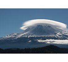 Altocumulus Lenticularis Over Mt Shasta Photographic Print