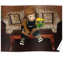 ✿♥‿♥✿ GINGER WITH YELLOW ROSES THE SIGN OF FRIENDSHIP TO ALL ✿♥‿♥✿ Poster