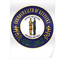 Kentucky | State Seal | SteezeFactory.com Poster
