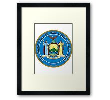 New York | State Seal | SteezeFactory.com Framed Print