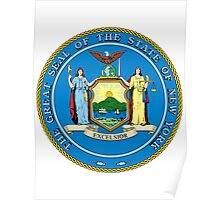 New York | State Seal | SteezeFactory.com Poster