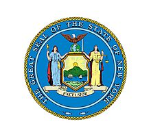 New York   State Seal   SteezeFactory.com Photographic Print