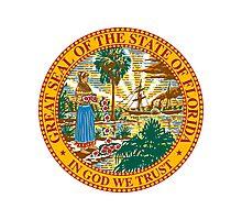 Florida   State Seal   SteezeFactory.com Photographic Print