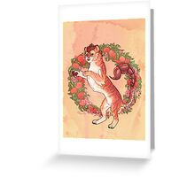 Peaches Manticore Greeting Card