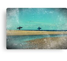 surfers at lagoon 1 Canvas Print