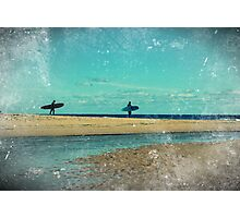 surfers at lagoon 1 Photographic Print