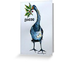 Geese. ('Six geese a-laying...') The Twelve days of Christmas. Greeting Card